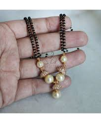 black pearl chain necklace images Black beads mangalsutra in ad caps pearls mangalsutra designs jpg