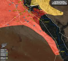 Azaz Syria Via Google Maps by Military Situation In Area Of Deir Ezzor On 9 October 2017 Map