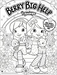 strawberry shortcake berry big printable coloring