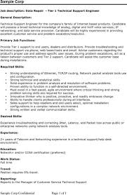 desktop support resume sample sample resume format for technical support engineer