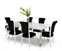 versus mia white lacquer modern white dining table dining room