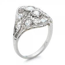 ring platinumt deco diamond engagement ring 31 1 10 rings for