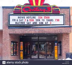 movie town small town movie theatre in lindsay kawarth lakes ontario stock