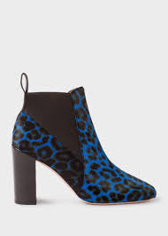 Blue Leopard Print Paul Smith Women U0027s Blue Leopard Print Calf Hair U0027shawna U0027 Boots