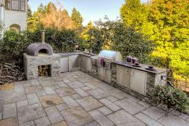 outdoor cupboards patio traditional with stone paving pizza oven