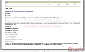 chevrolet volt opel ampera 2012 service manual auto repair