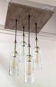 Cottage Style Chandeliers Recycled Wine Bottle Chandelier Industrial Chandelier
