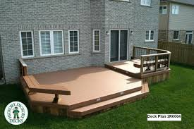 deck designs this deck plan is for a large low 2 level deck