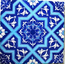 how i painted moroccan tiles on a kitchen shelf kitchen shelves