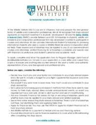 study abroad scholarships the wildife institute financial aid