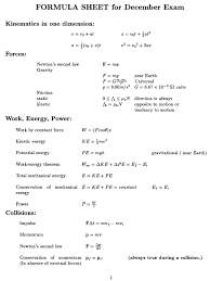 physics formula sheet mo u2026 pinteres u2026