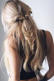 coolest girl hairstyles ever fishtail twist half ponytail the coolest ponytail hairstyles ever