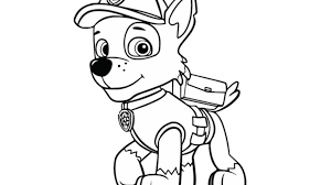 paw patrol paw patrol rocky colouring pages for preschoolers