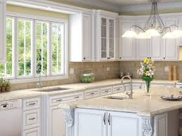 Low Kitchen Cabinets by Olympic White Raised Kitchen Cabinets Low Cost Kitchen