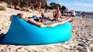 Beach Lounger Fast Inflatable Air Bed Lounger Hammock For Beach Goers Youtube