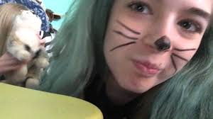 Cat Whiskers For Halloween Makeup by I Learned To Draw Cat Whiskers A Day W Taylor Youtube