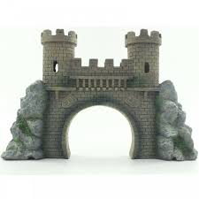 aquarium ornaments decorations castle wall fish tank decor