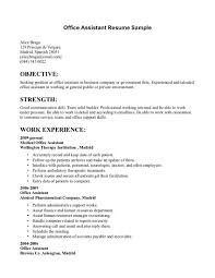Assistant Manager Resume Objective Resume Objective Examples Office Manager Augustais