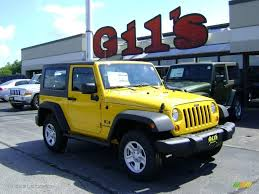 wrangler jeep 2008 2008 detonator yellow jeep wrangler x 4x4 3571857 gtcarlot com