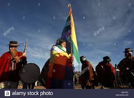 Quechua Flag Bolivia Tiahuanaco Andines New Year Festival Flag Of Indigenous