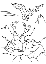 brother bear and hawk coloring pages for kids printable free