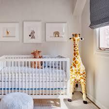 tribal print wallpaper nursery transitional with elephant crib