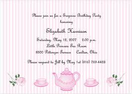tea party birthday invitations for girls