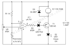 exhaust fan temperature switch temperature controlled dc fan