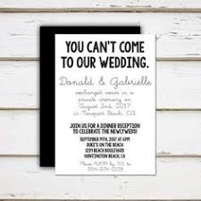 elopement invitations after the wedding party invitations or elopement party invitations