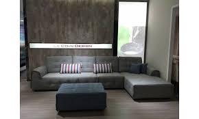 canap d angle en tissu pas cher canapé design achat canapés d angle en tissu bellay lecoindesign