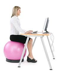 ball chair active sitting with swissball by theragear