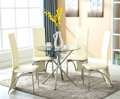 Glass Table And Chairs For Kitchen by Dining Table Round White Table And Chairs For Kitchen