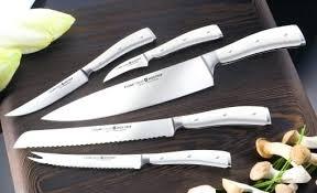 couteaux de cuisine professionnels coffret couteaux cuisine coffret wa 1 4 sthof ikon blanc