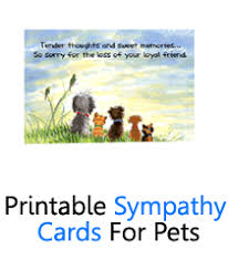 pet condolences pet sympathy cards