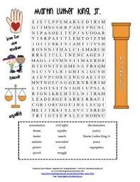 martin luther king word puzzles pictures to pin on pinterest