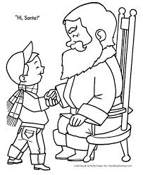 christmas santa coloring santa talks children