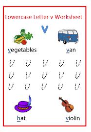 lowercase letter v worksheets free printable preschool and