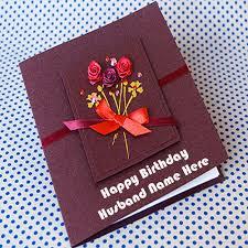 write name on husband name wish card