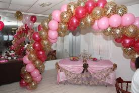 Pink Balloon Decoration Ideas Pink And Leopard Baby Shower Party Ideas Photo 10 Of 23 Catch