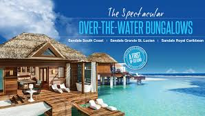 sandals overwater bungalows now destination weddings