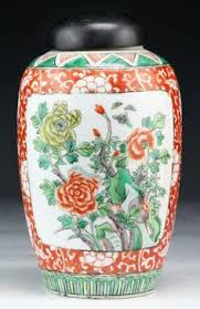 Antique China Vases Chinese Qing Period Famille Verte Porcelain Barrel Seat East