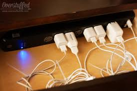 Diy Charging Stations A Place For Electronic Devices Easy Diy Charging Station