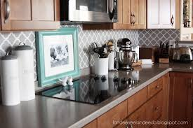 elegant kitchen ideas with gray white stencil peel stick kitchen