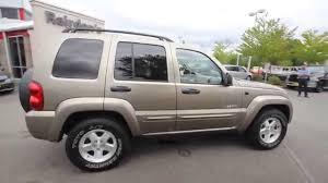 liberty jeep 2004 2004 jeep liberty limited tan 4w225459 everett snohomish