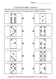 fun domino math brain teaser worksheets 1