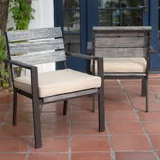 Wooden Patio Dining Set Belham Living Silba Envirostone Faux Wood Patio Dining Chair