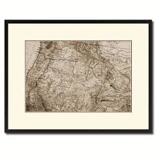 Pacific Northwest Map Us Pacific Northwest Vintage Sepia Map Home Decor Wall Art Bedroom