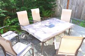 Mosaic Patio Table And Chairs Best Scheme Make A Tile Top Patio Table Outdoor Furniture Tile Top