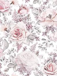pink backdrop pink blush roses drawing sketch printed backdrop 6848 backdrop