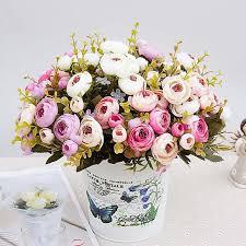 artificial flowers cheap 1 bouquet artificial flowers cheap silk flower european fall small